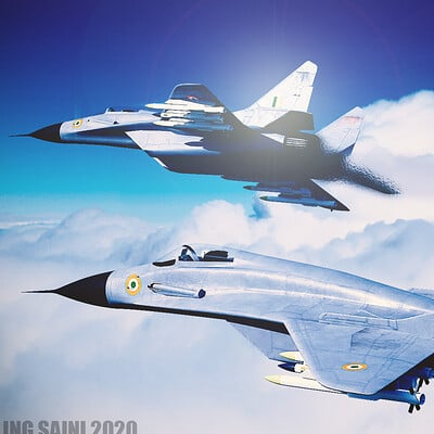 Sterling saini mig 29 above clouds blender ppscd photoshop ppscd 1