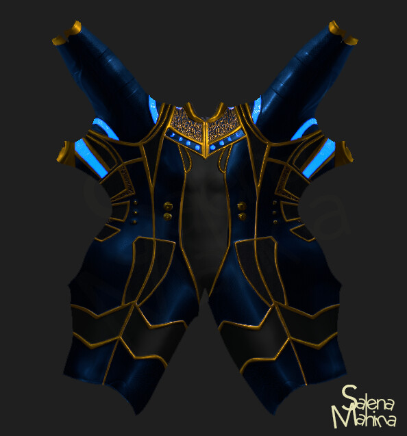 Moon Ray's suit UV map