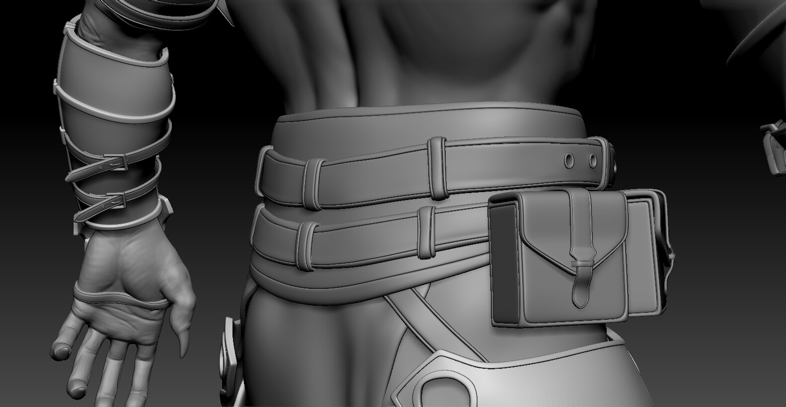 modeled new pouches in Blender. The old ones looked pretty bad with zremeshed edgeflow.