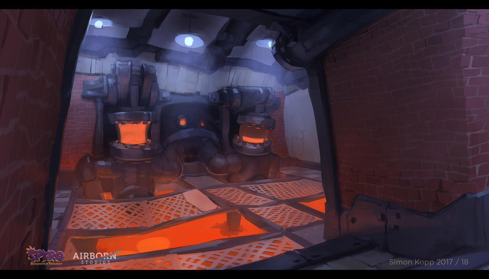 Interior shot for level start.