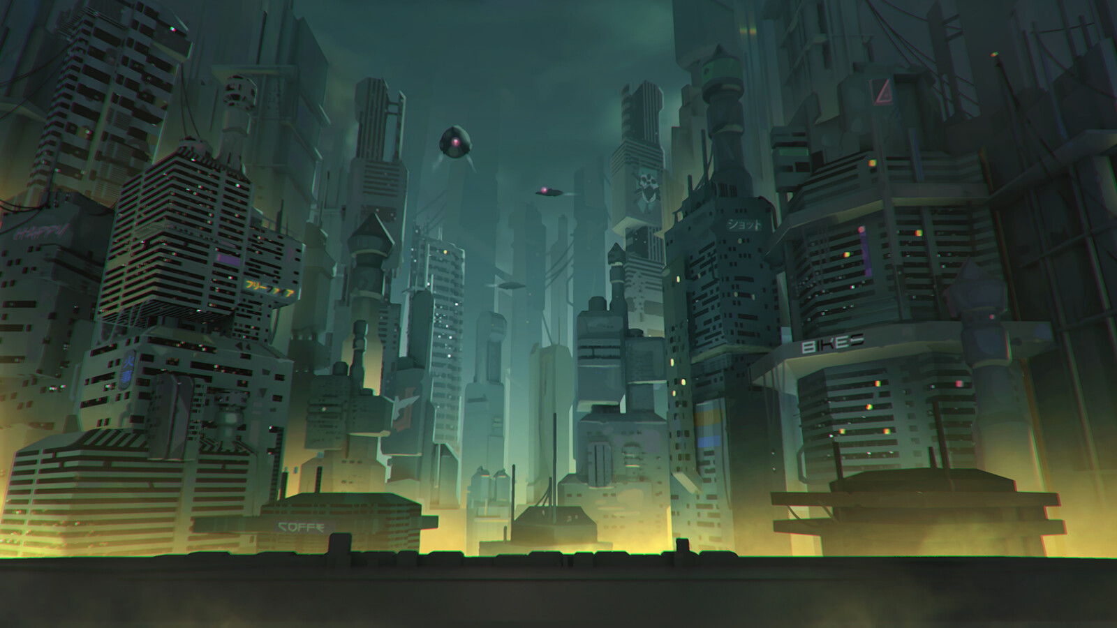Exploration of the city, trying to be less alive,