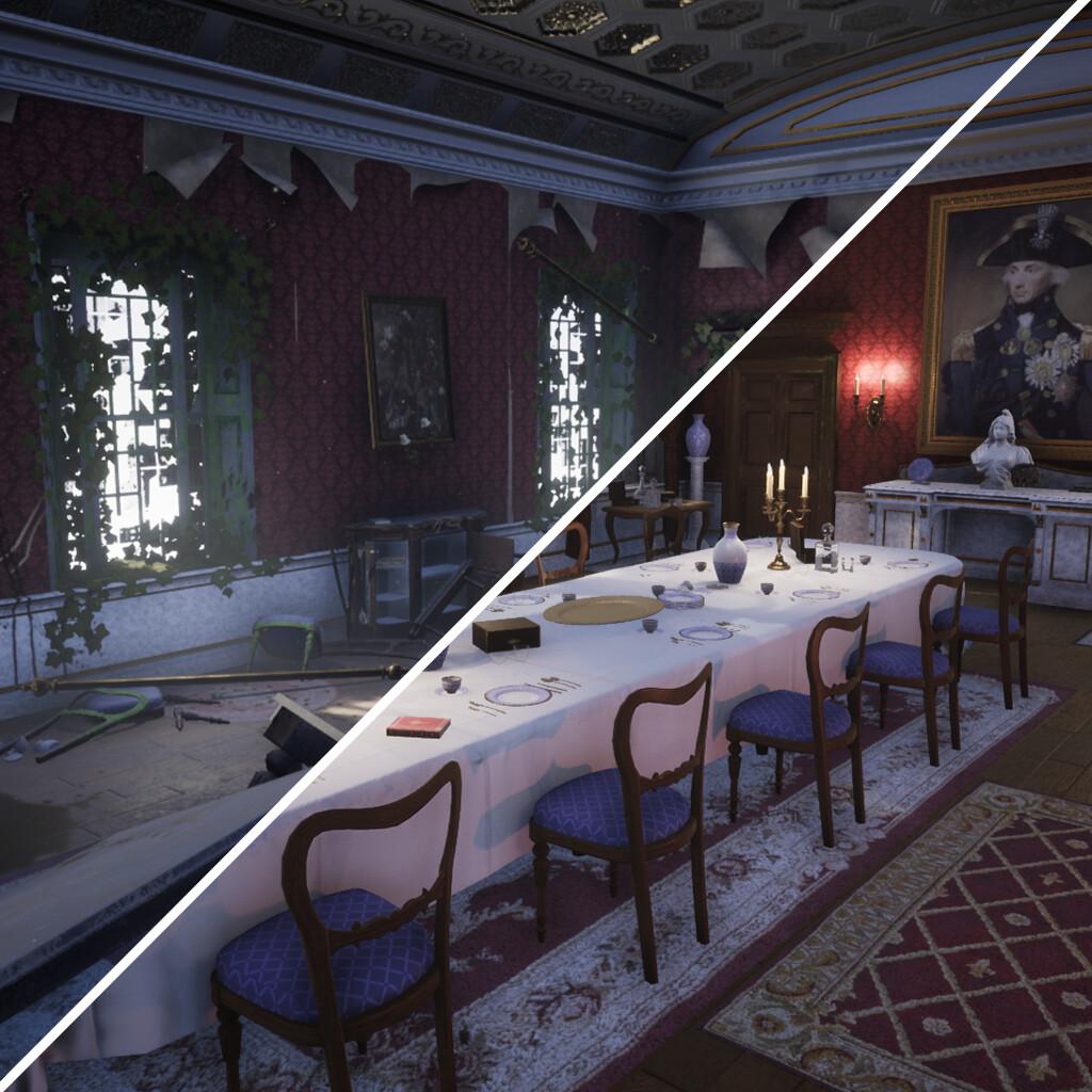 Artstation Victorian Dining Room, Victorian Dining Room