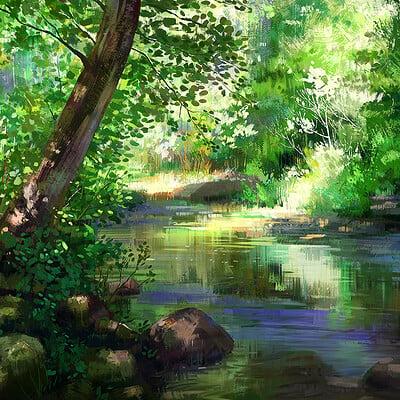 Madeleine bellwoar forest creek by maddy bellwoar s