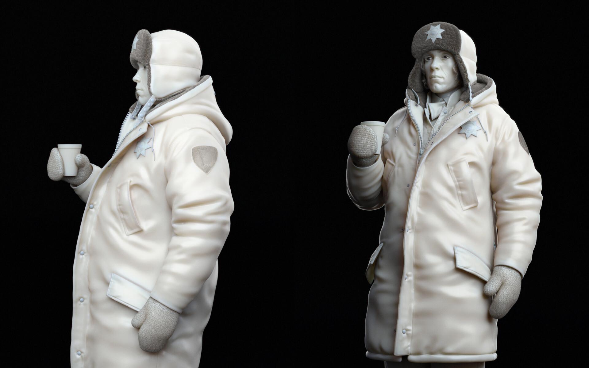 Medium closeups on character sculpt