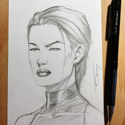 Donny d tran psylocke pencil