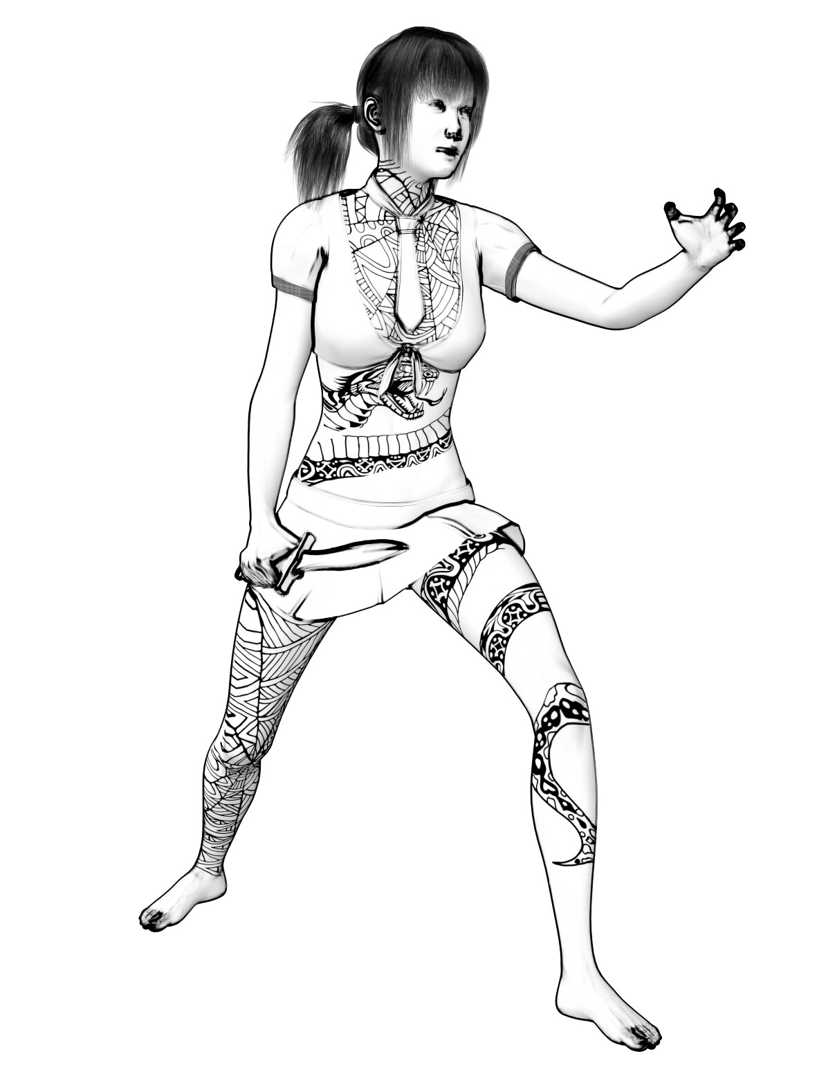 Example of character drawings