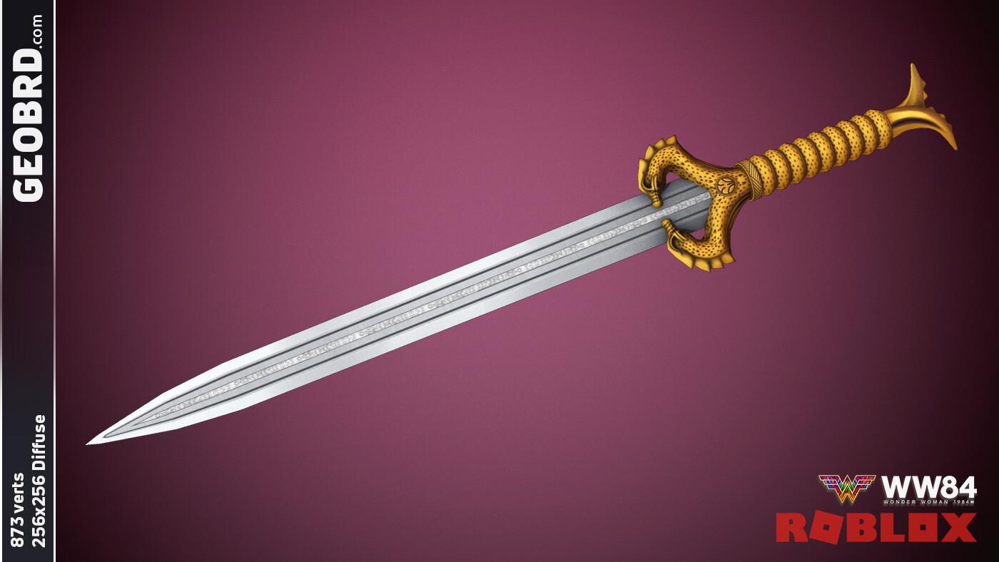 Wonder Woman '84 the Sword of Athena