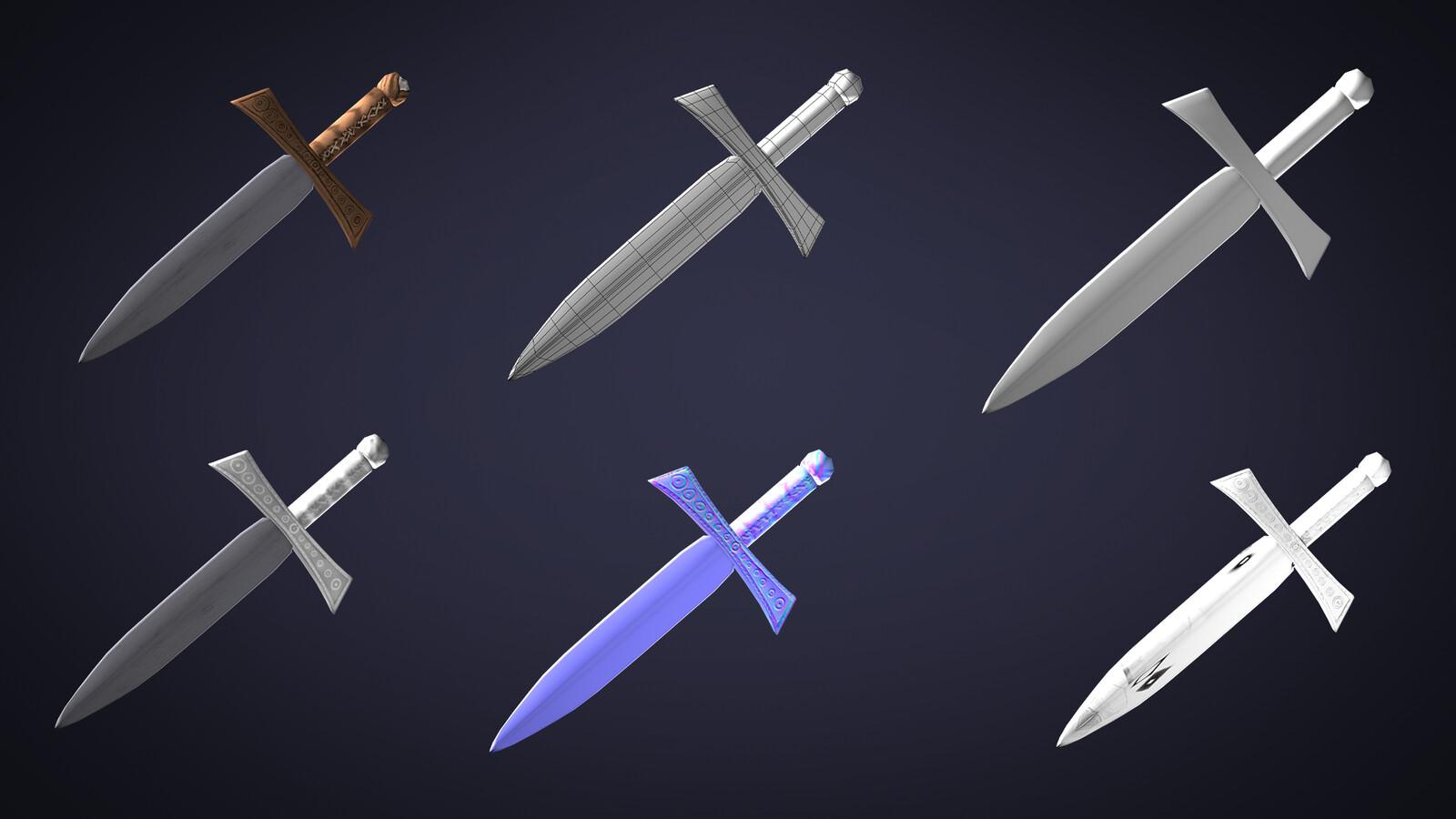 Sword model breakdown