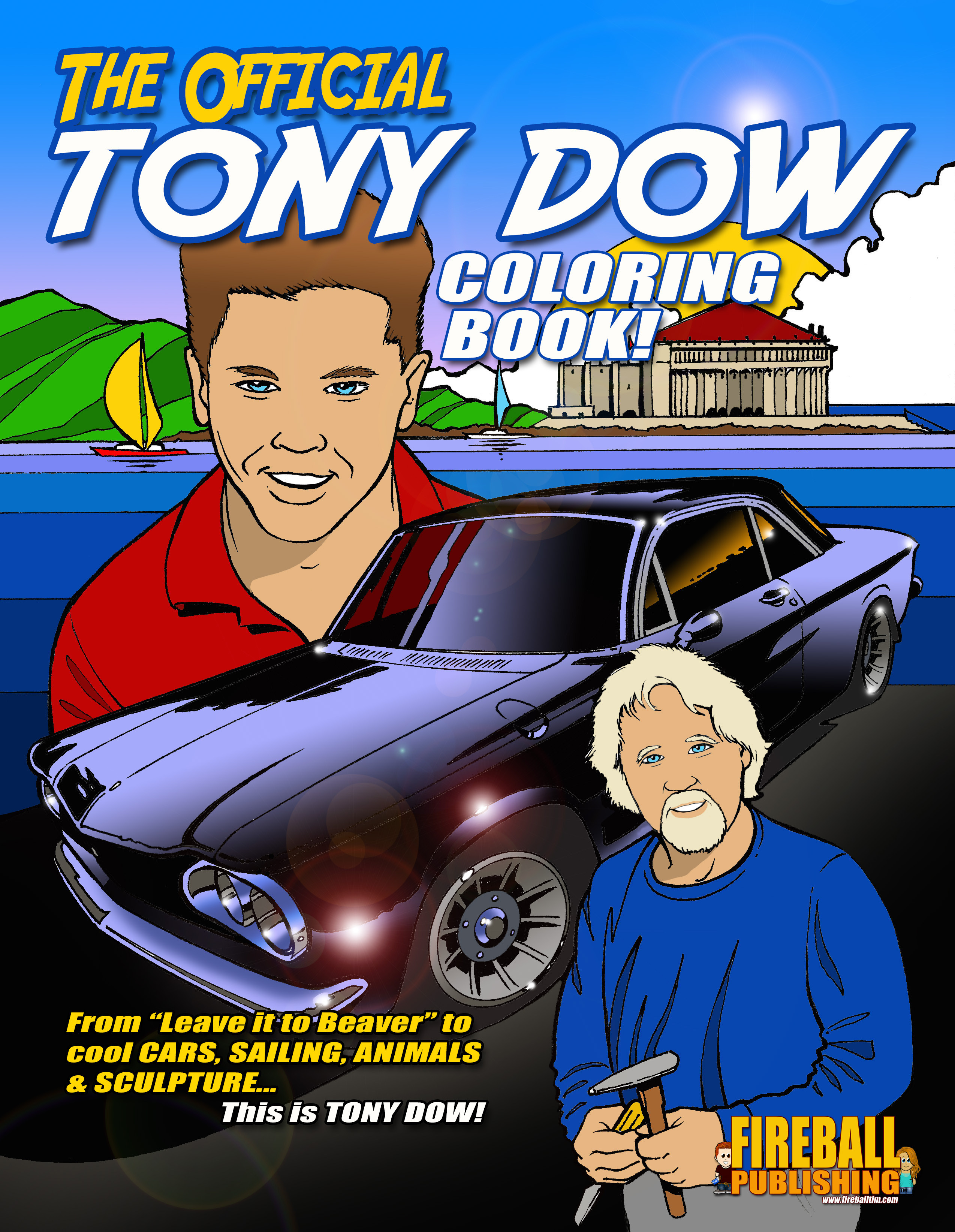 The Official TONY DOW Coloring Book