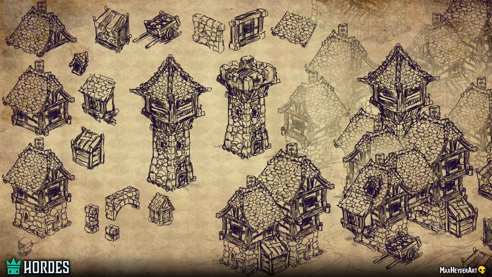 This is also an unused version of modular assets for the town. At first, the plan was to have a full map dedicated for the main city of one of the two main factions. We ended up scrapping this idea and ended up building a small town/outpost.