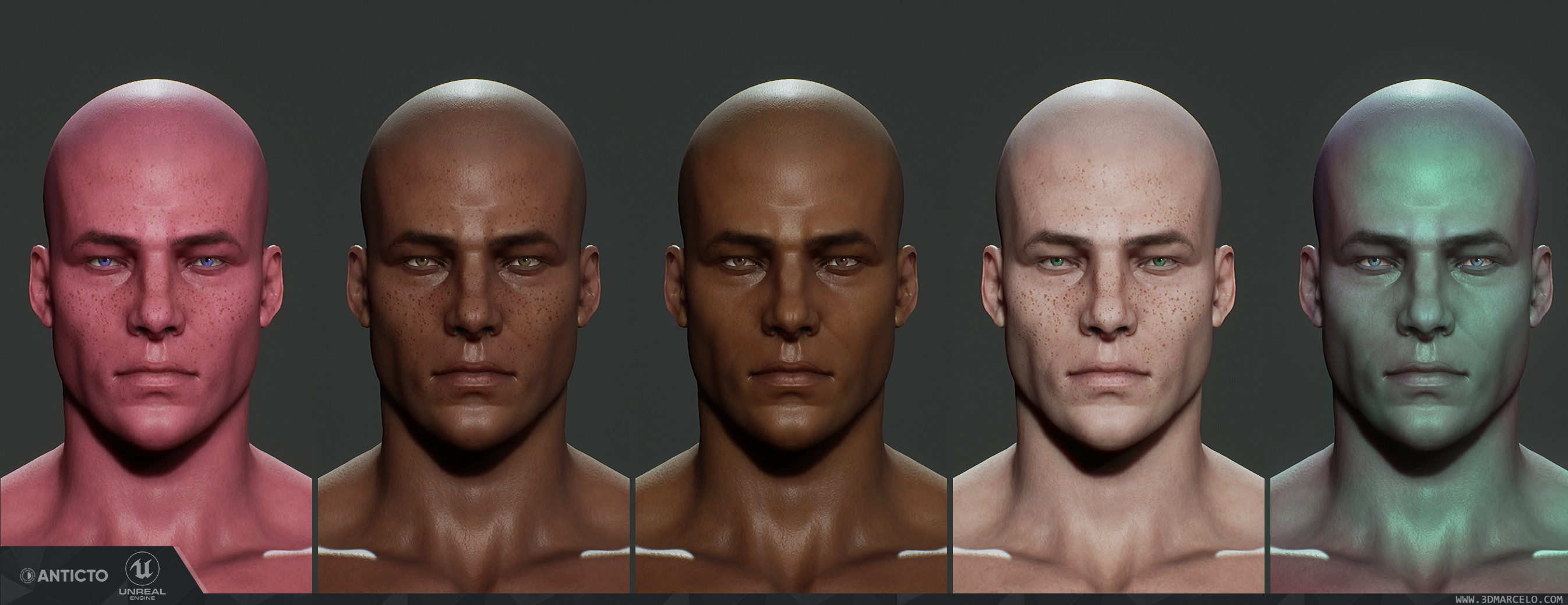 Shader dynamic skin & freckles color control