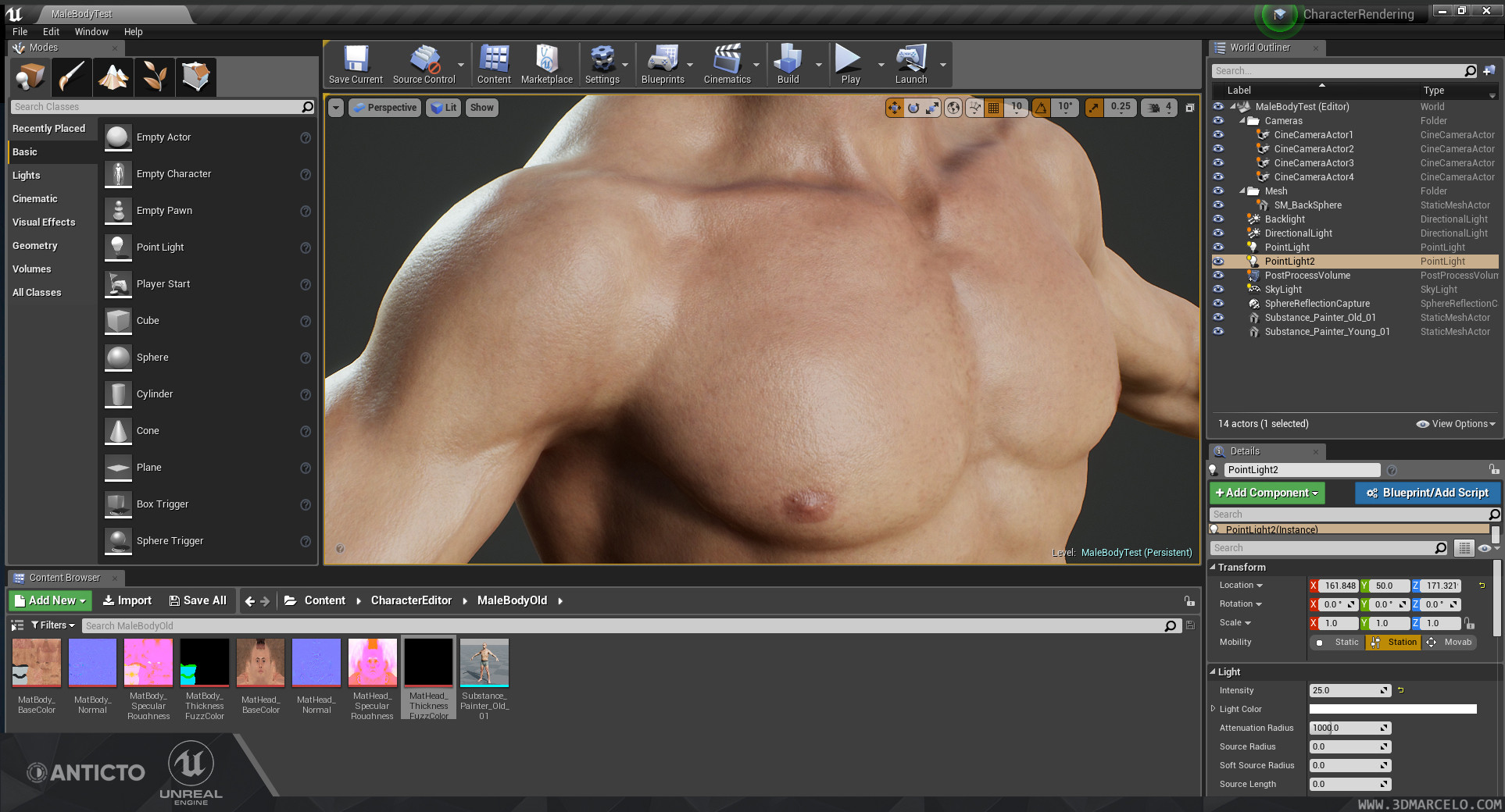 Unreal Engine 4 - Skin Shader detail