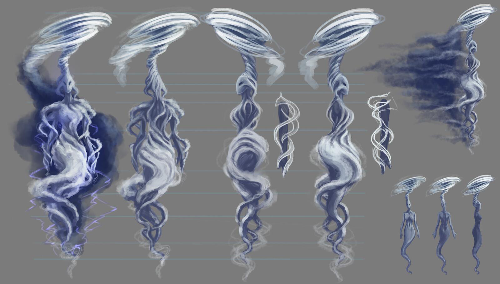 Elemental Goddes Air final concept art