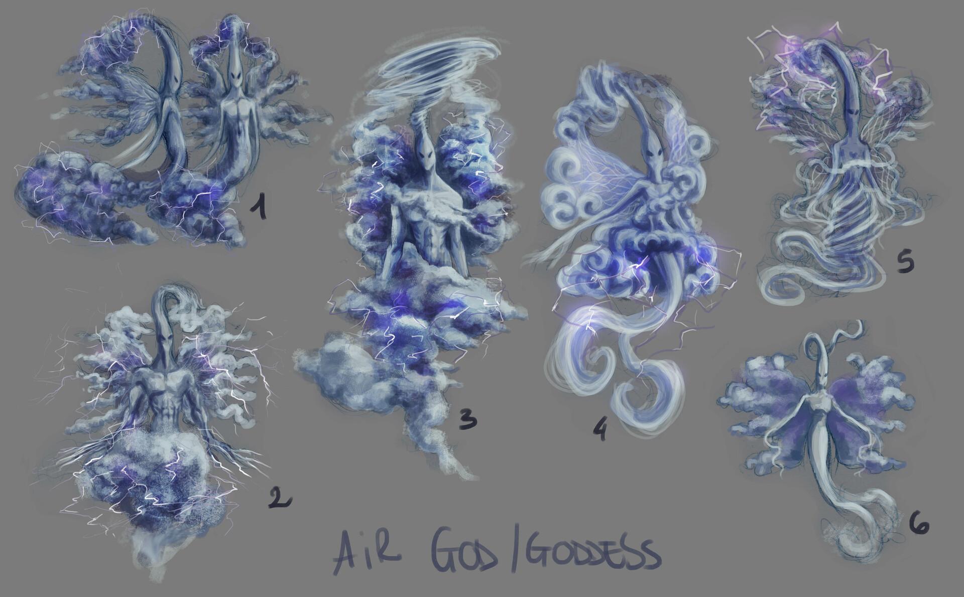 Elemental God/Goddes ideas