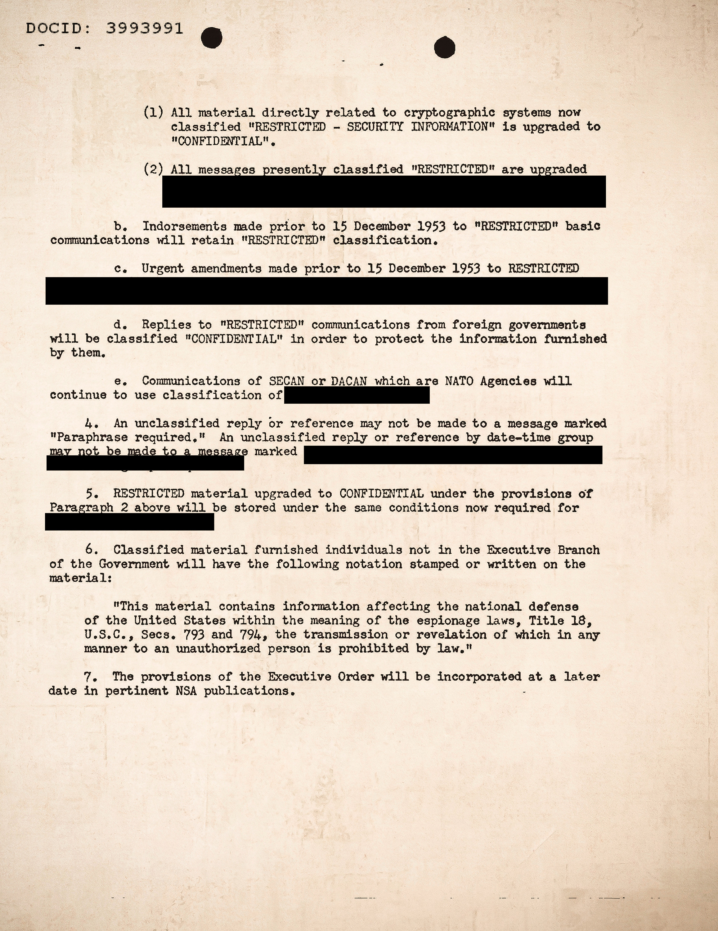 A page from declassified initial document.
