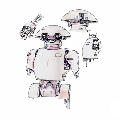 Paul adams robot sketches 2