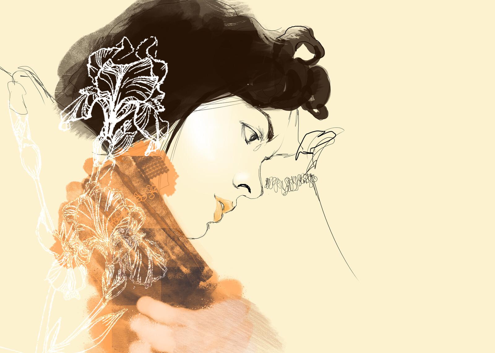 Fairy Tales digital illustration print available on my website  #biancamariaillustration