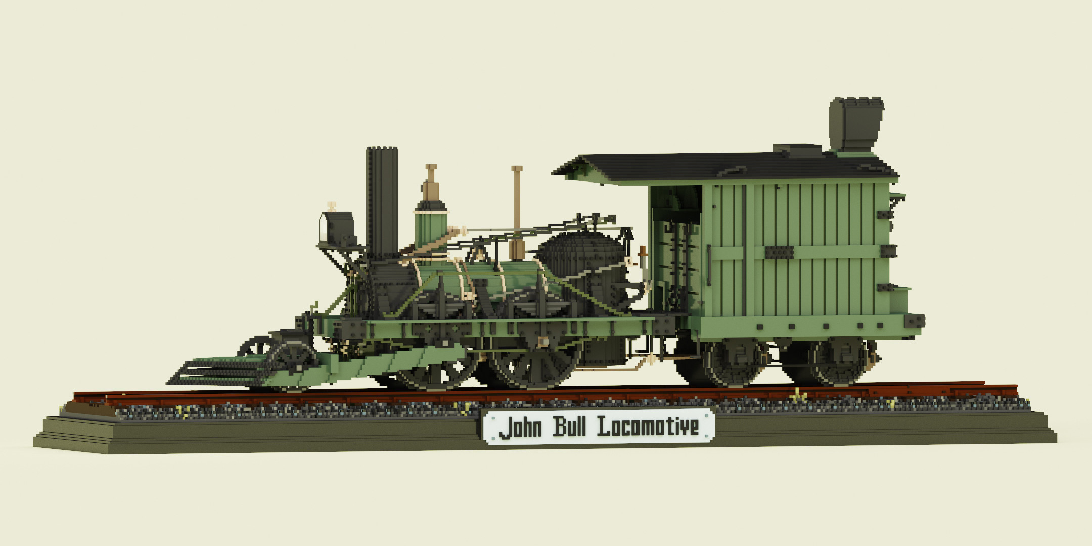 Rendering of the John Bull Locomotive.