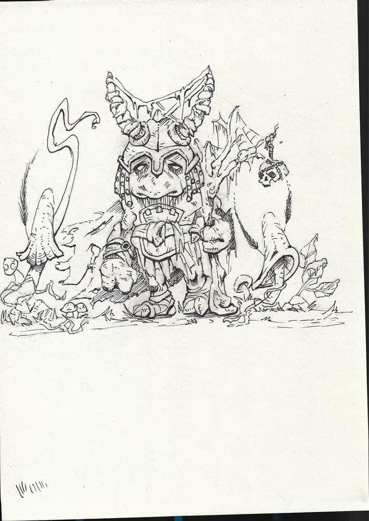 Goblin Knight sketch