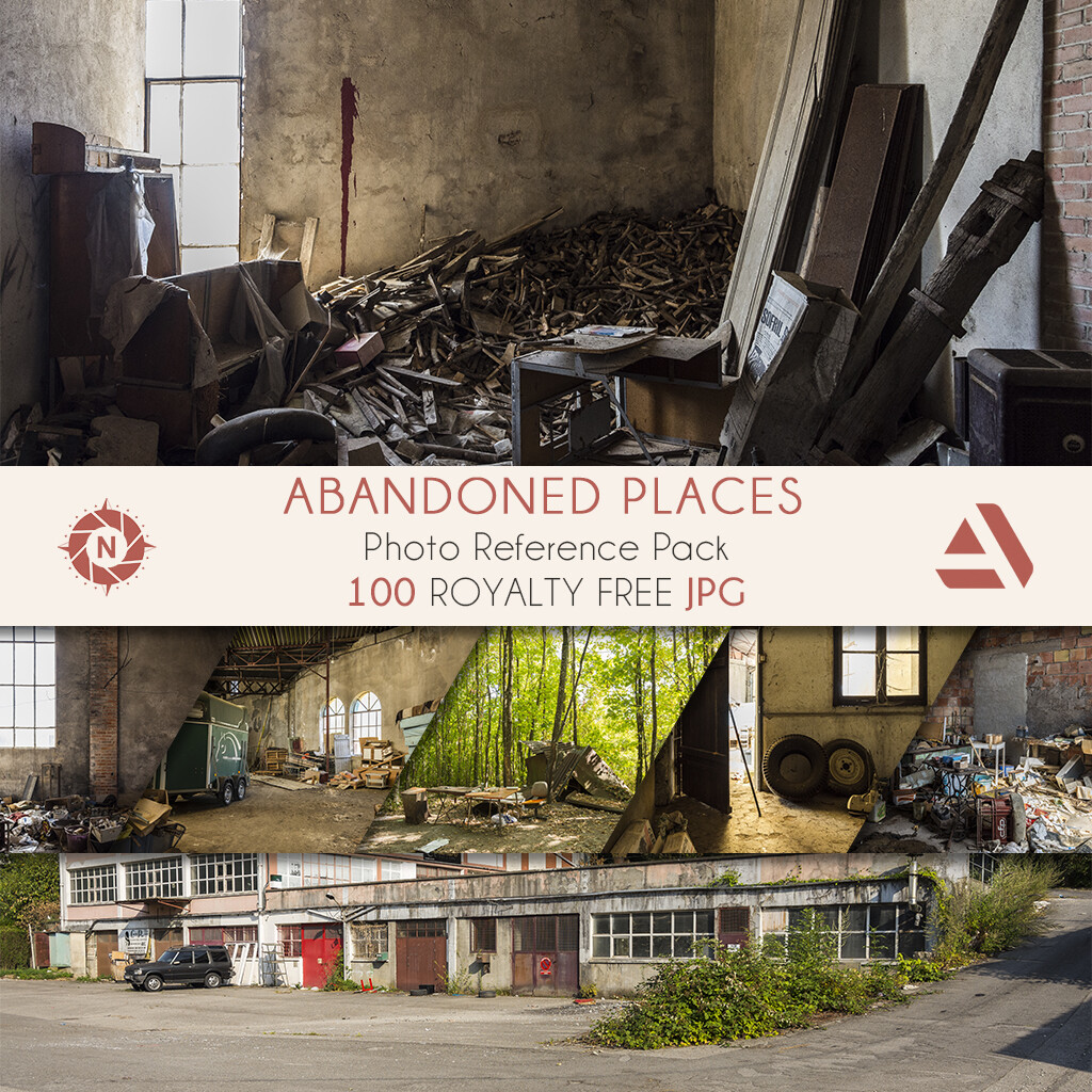 Photo Reference Pack: Abandoned Places  https://www.artstation.com/a/165893