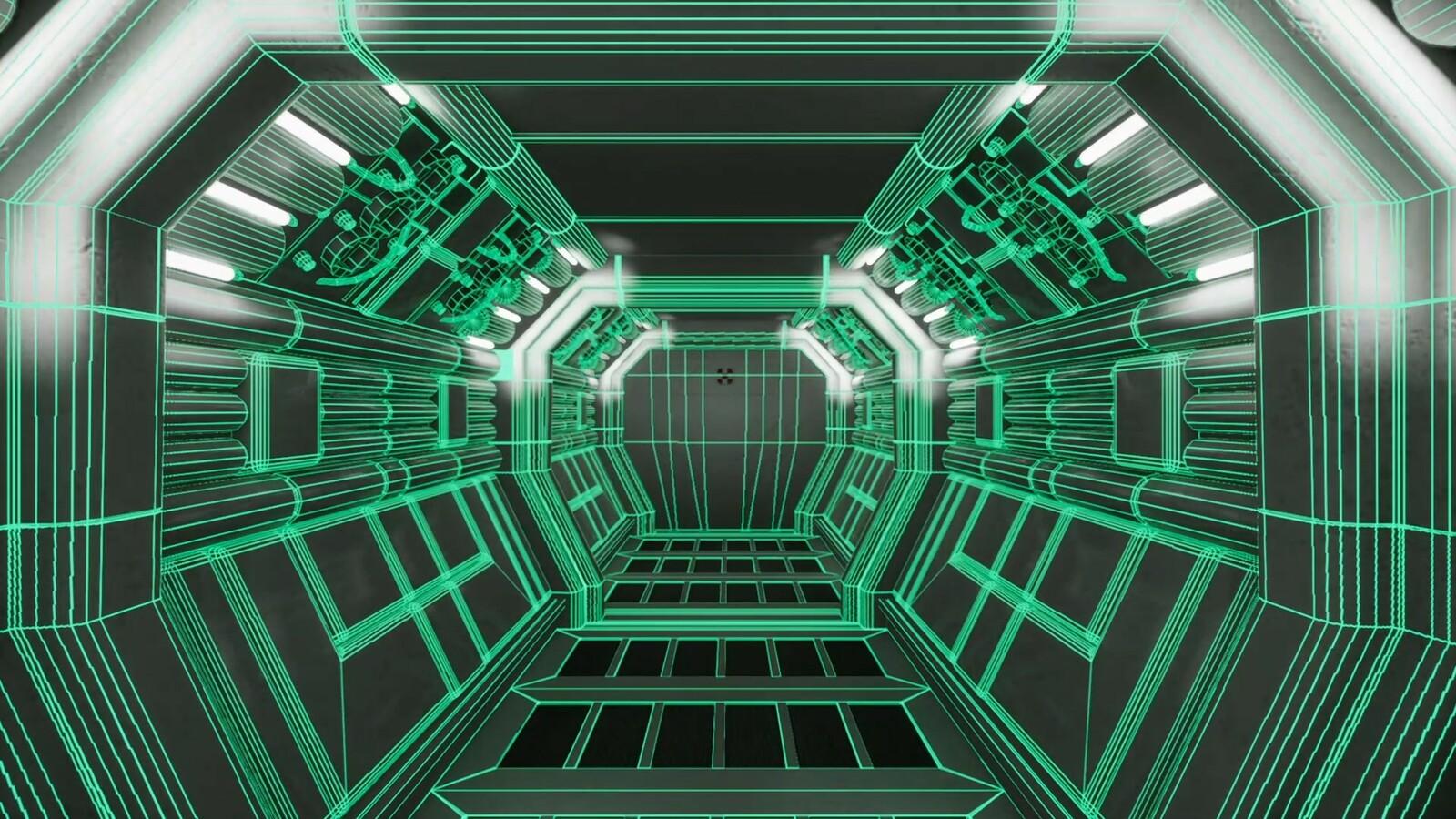 Modular Corridor - wireframe