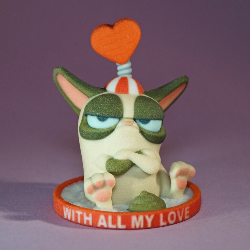 Grumpy Cat Litter Tray Love