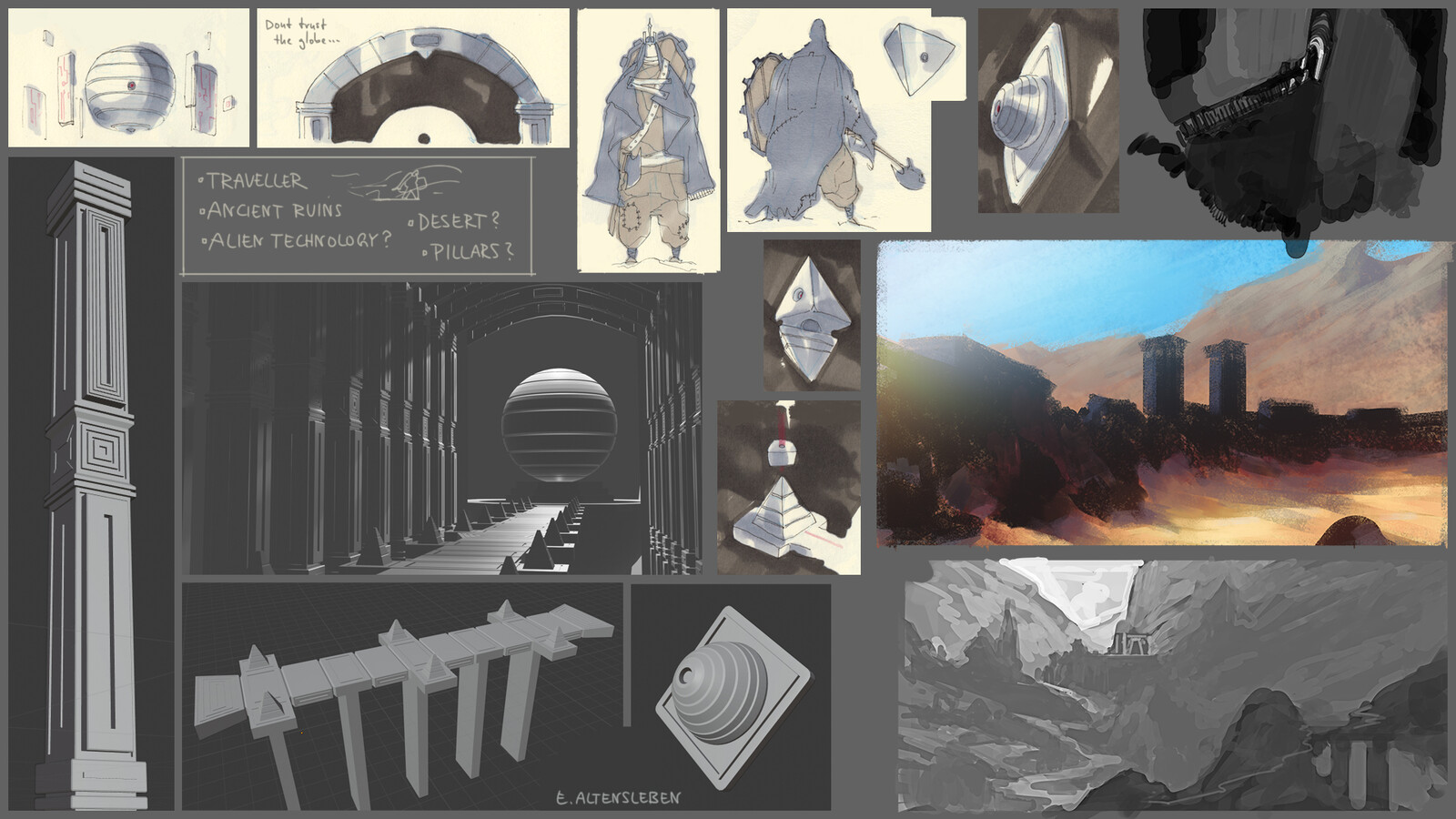 2D / 3D process and sketches
