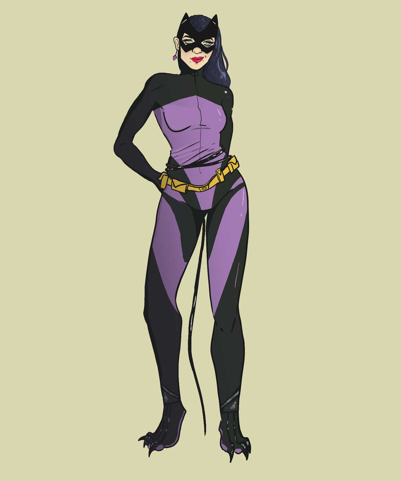 Wanted to play around with fusing catwoman's old design with her new