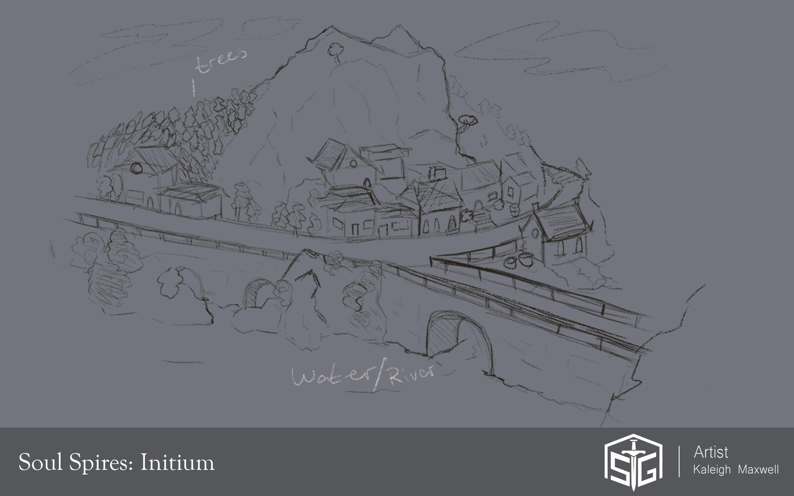 Soul Spires: Initium - Location Concepts