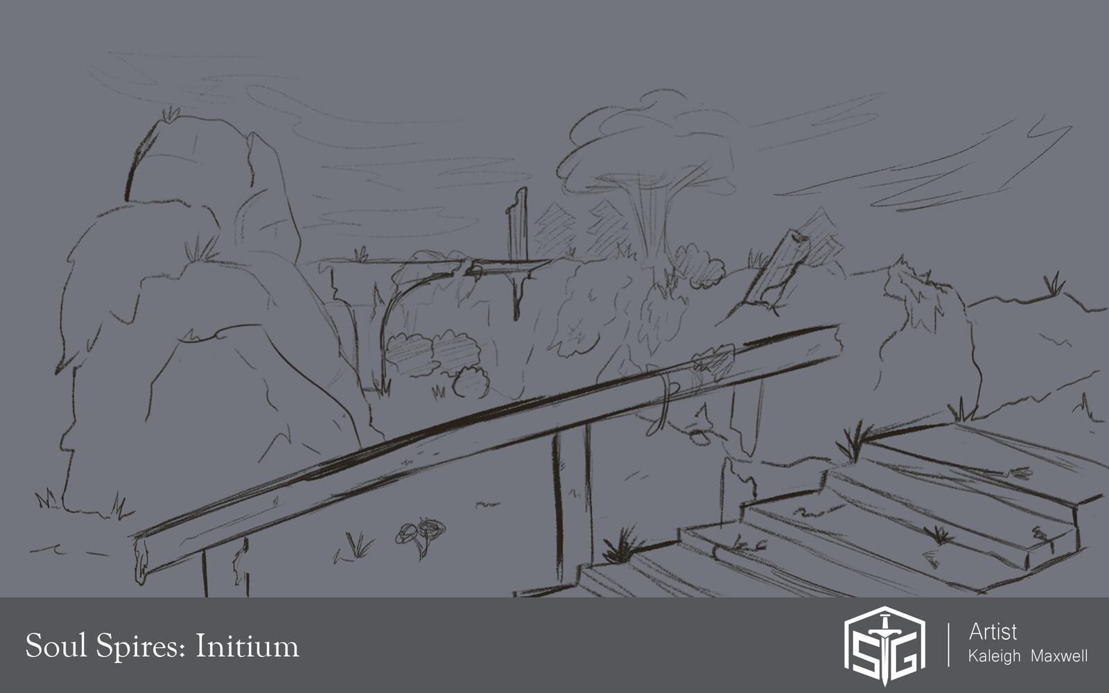 Soul Spires: Initium - Leveling Zone Concepts
