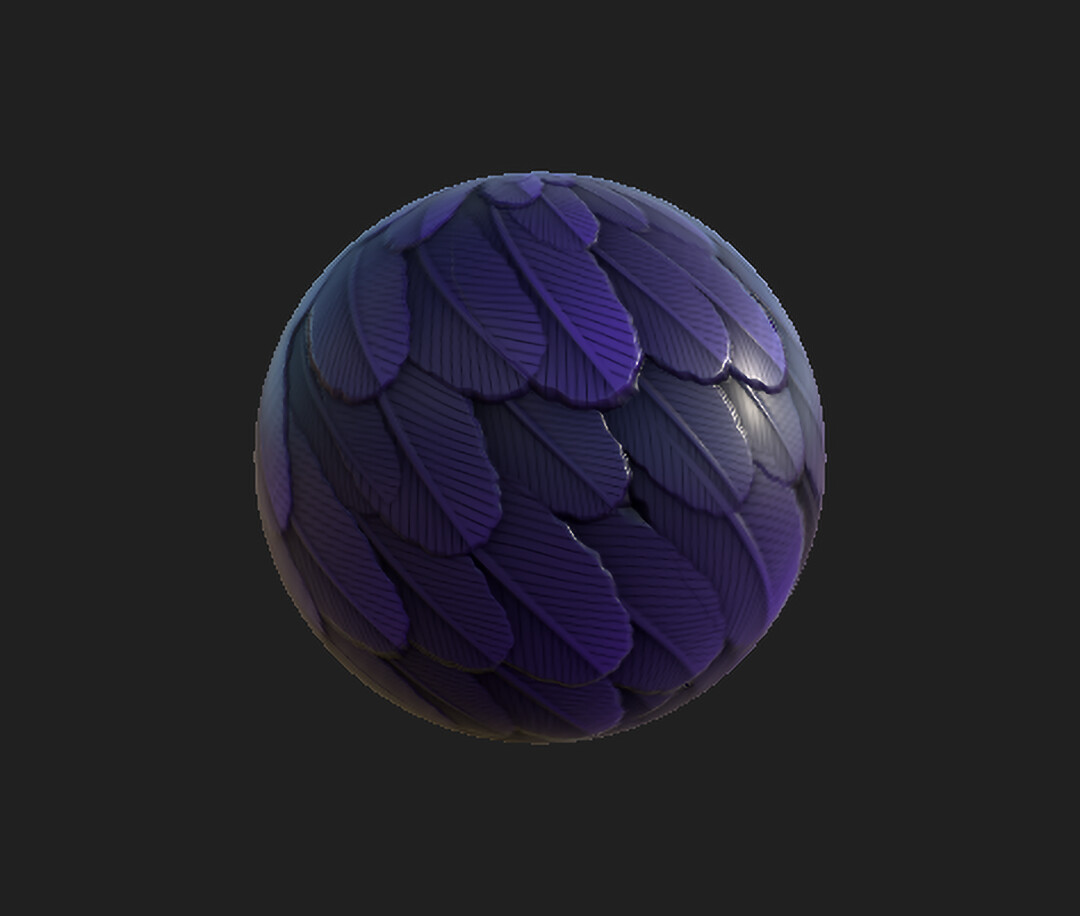 Stylized Feather Material