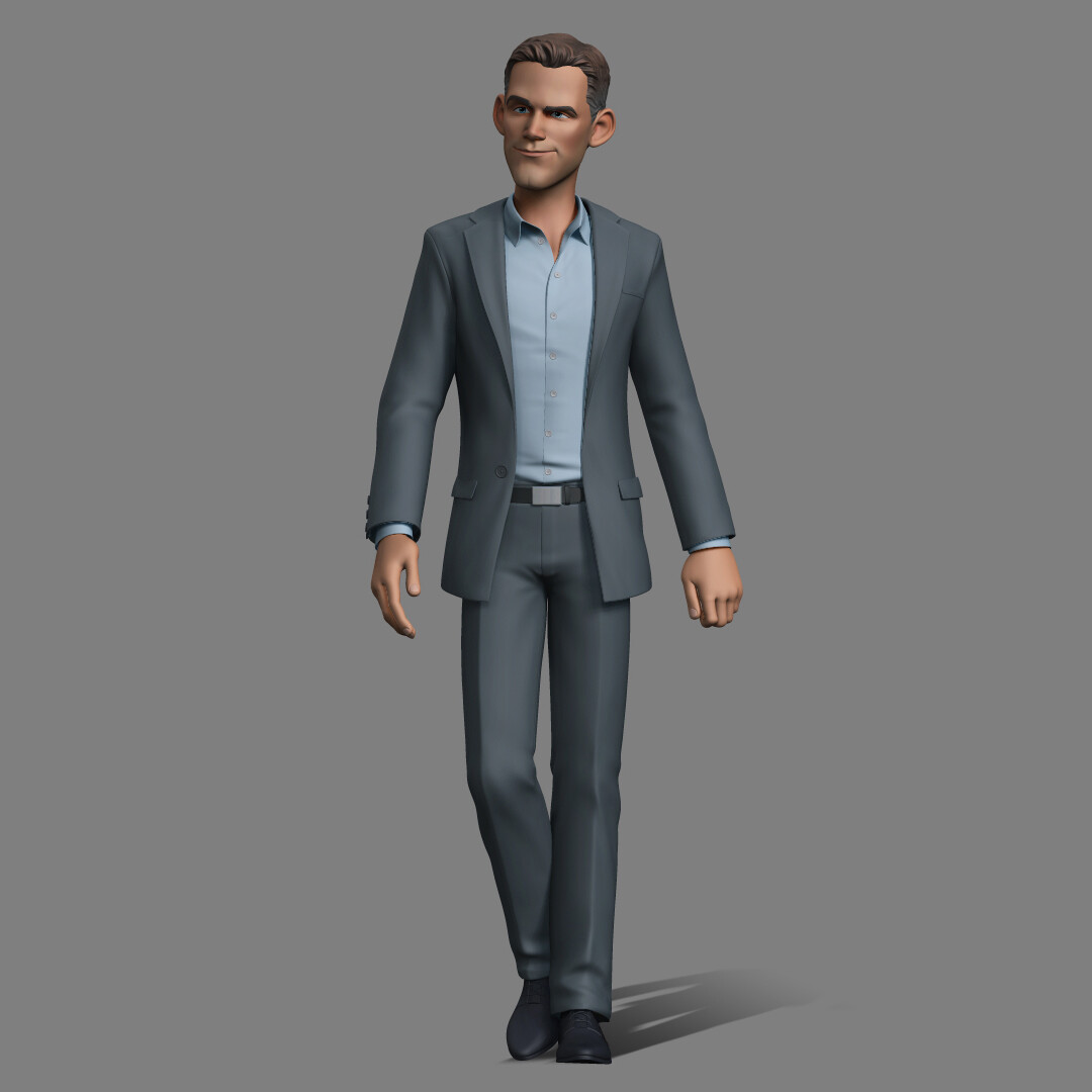 I have designed the 3D Maquette of Theo Epstein and also the final modeled. Unfortunately Warner decided to remove him from the movie.