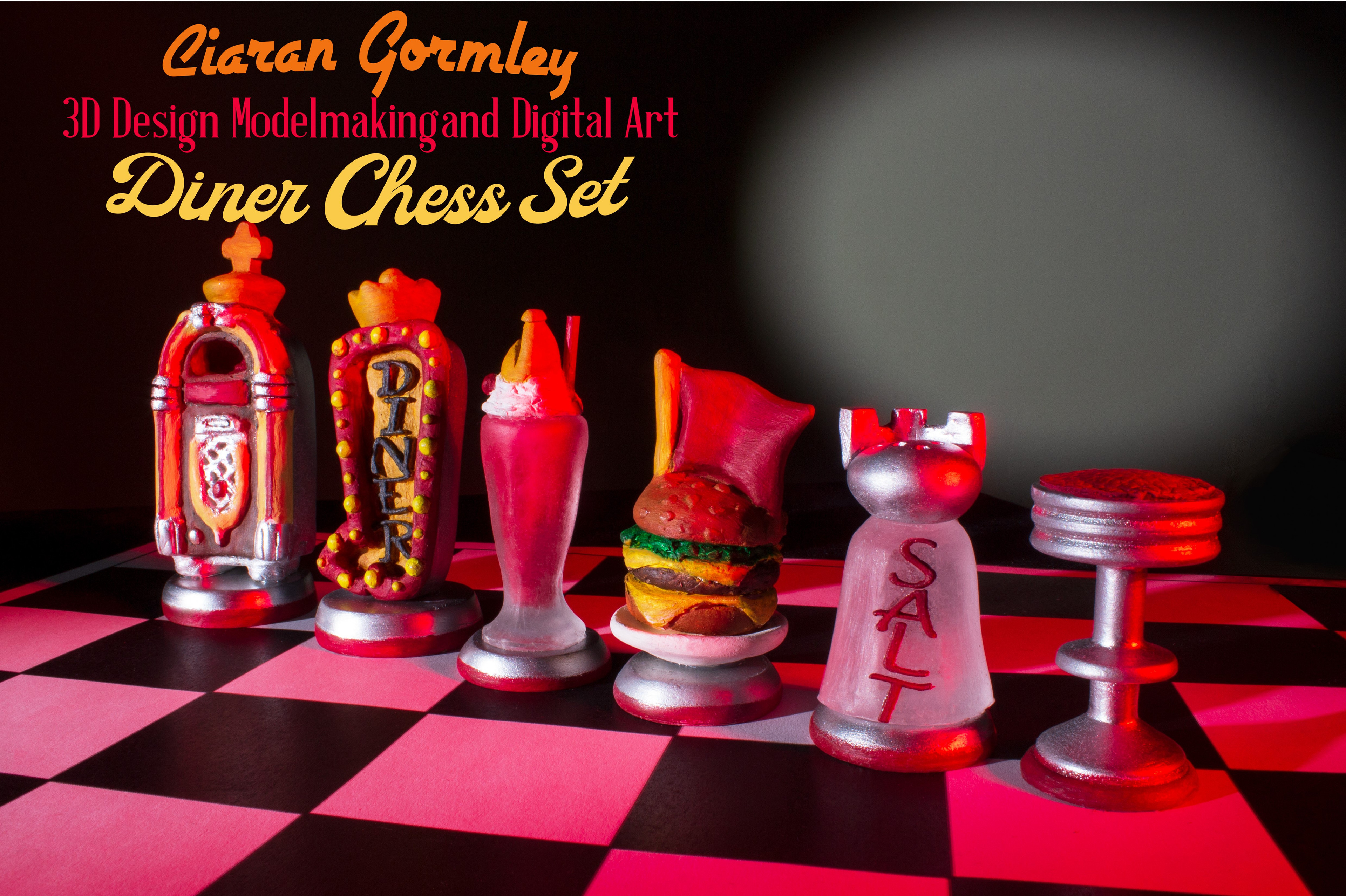 Staged Photo of Completed Chess Set