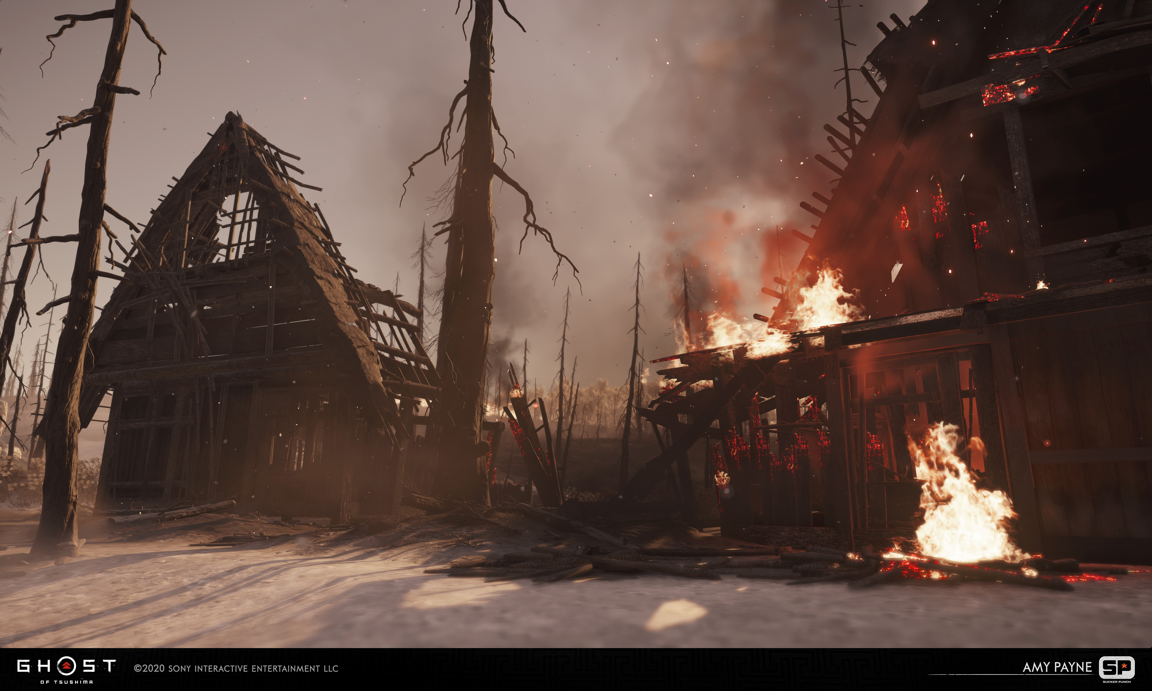 Responsible for taking architecture from block out to final using in house textures as well as working on burnt section of partially burnt building.