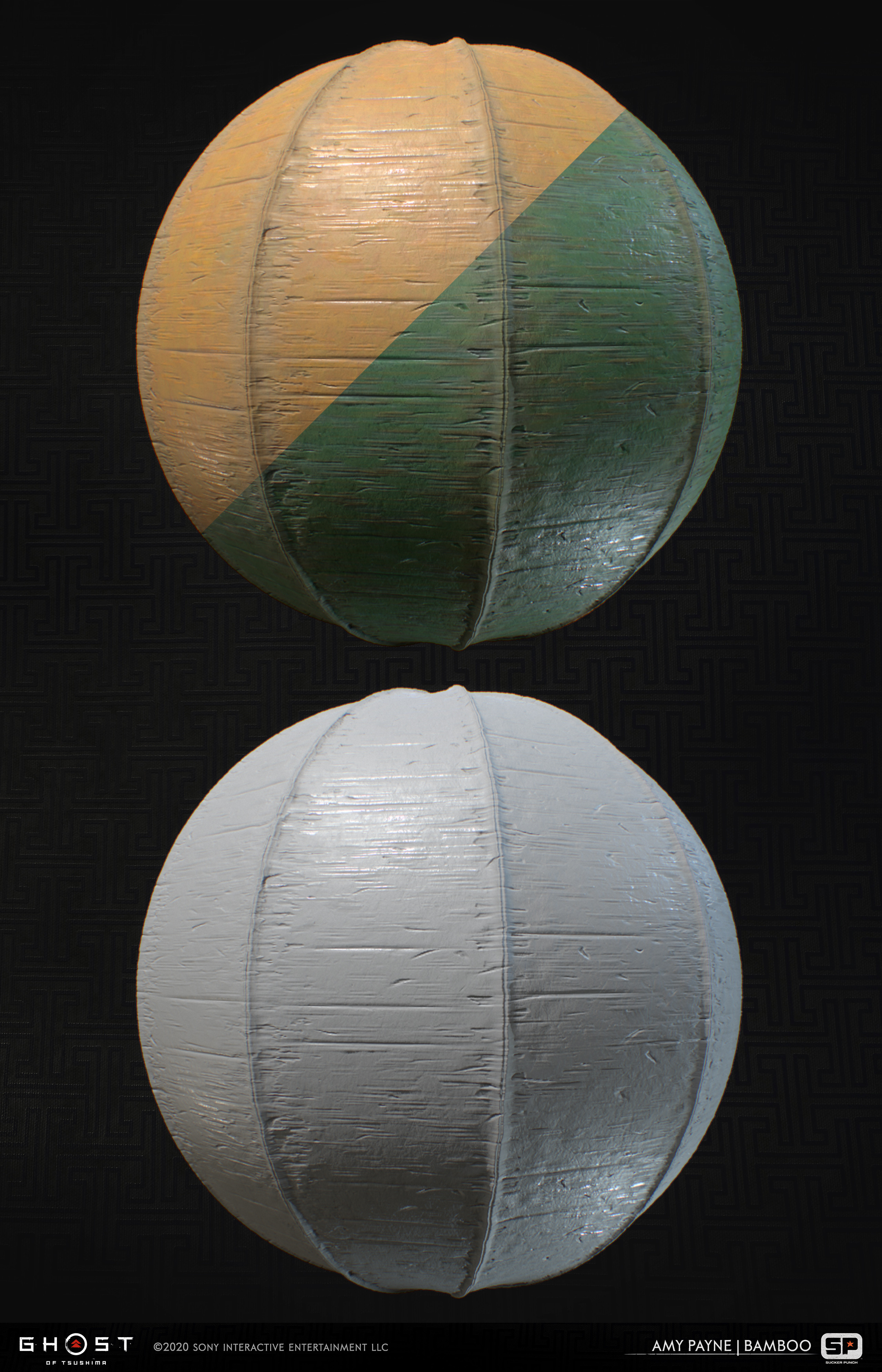 Bamboo materials used as base bamboo throughout the majority of the game. 100% Substance Designer.
