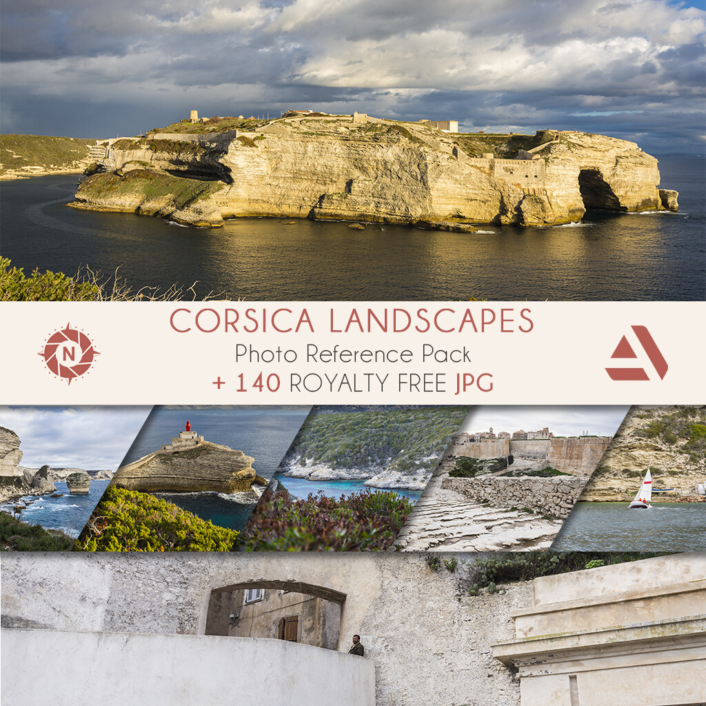 Photo reference pack: Corsica Landscapes  https://www.artstation.com/a/165726