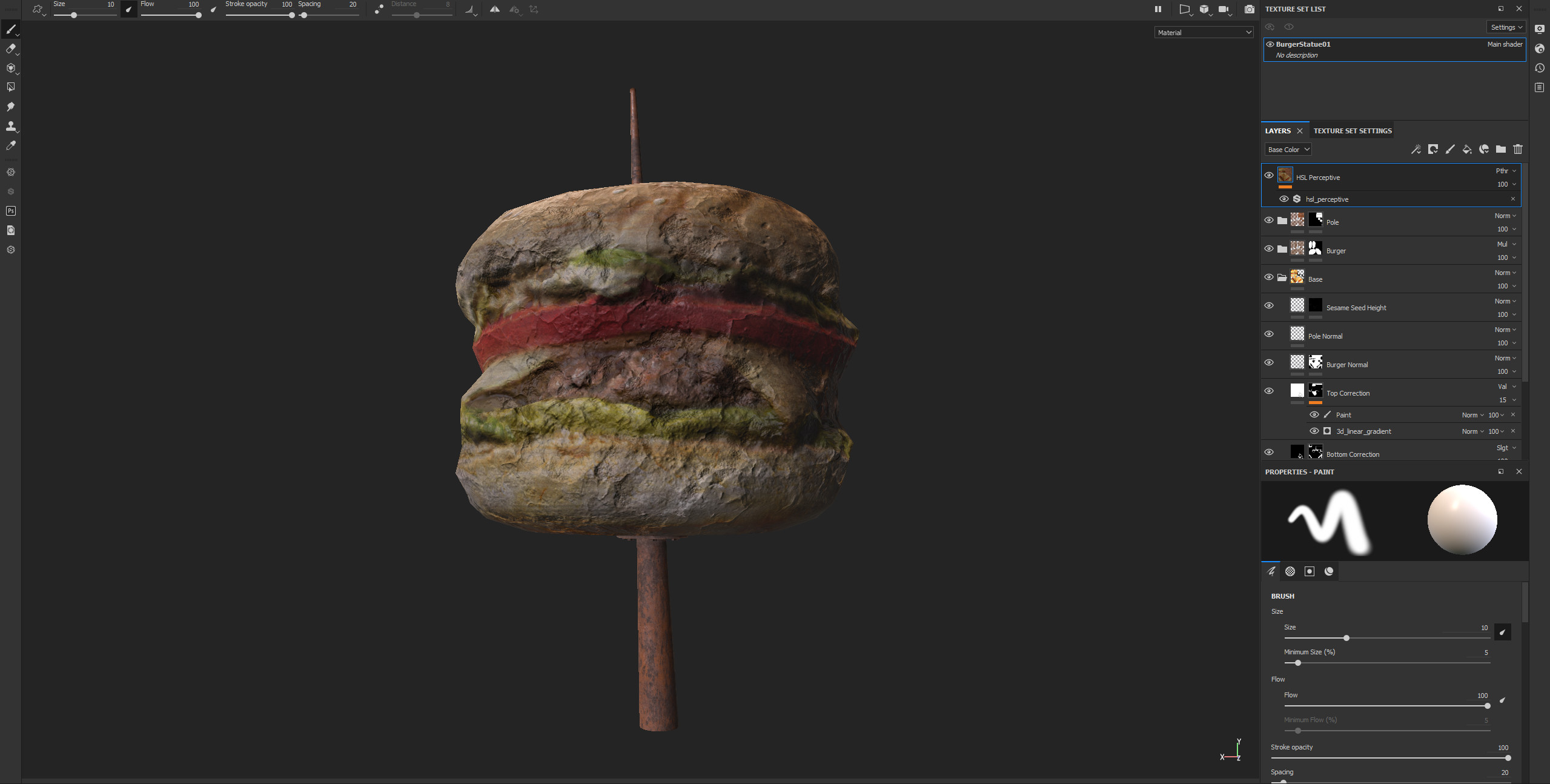 Final Texture work in Substance Painter, i retextured bottom part from pictures and added Fallout stylization.