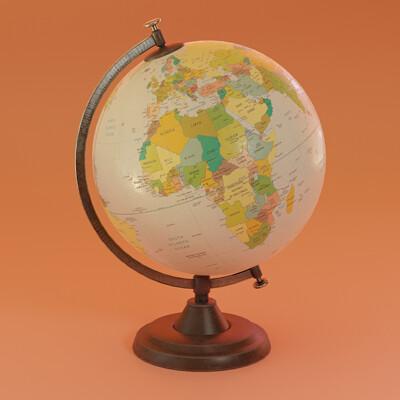 Mesut can kaptan desk globe kopyasi