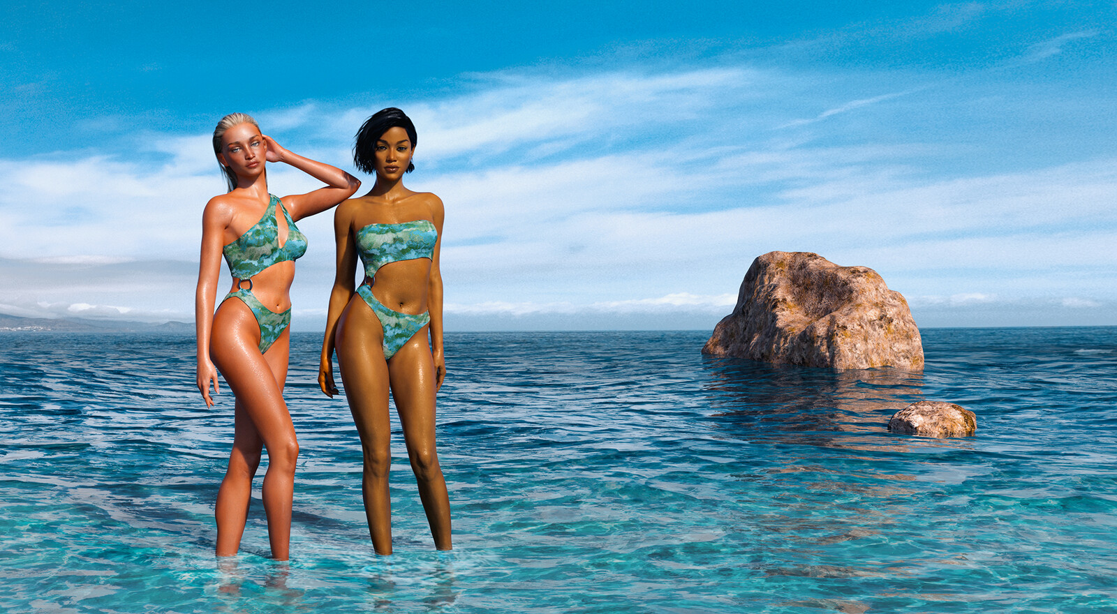 elise x elisia SS2020 Swimsuit Collection Website Artwork
