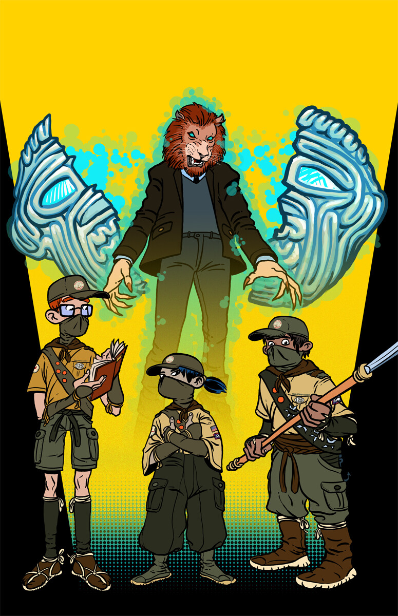 Cover for issue 1 of The Ninja Scouts