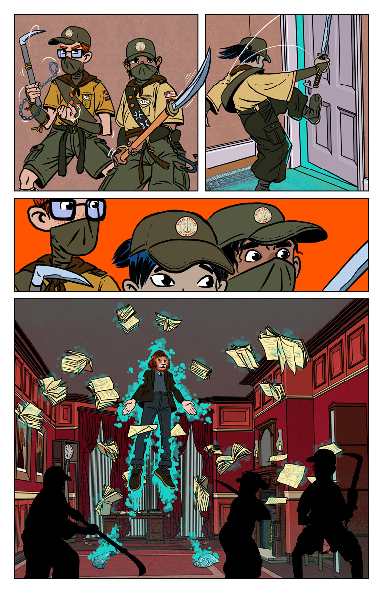 The Ninja scouts, page 6