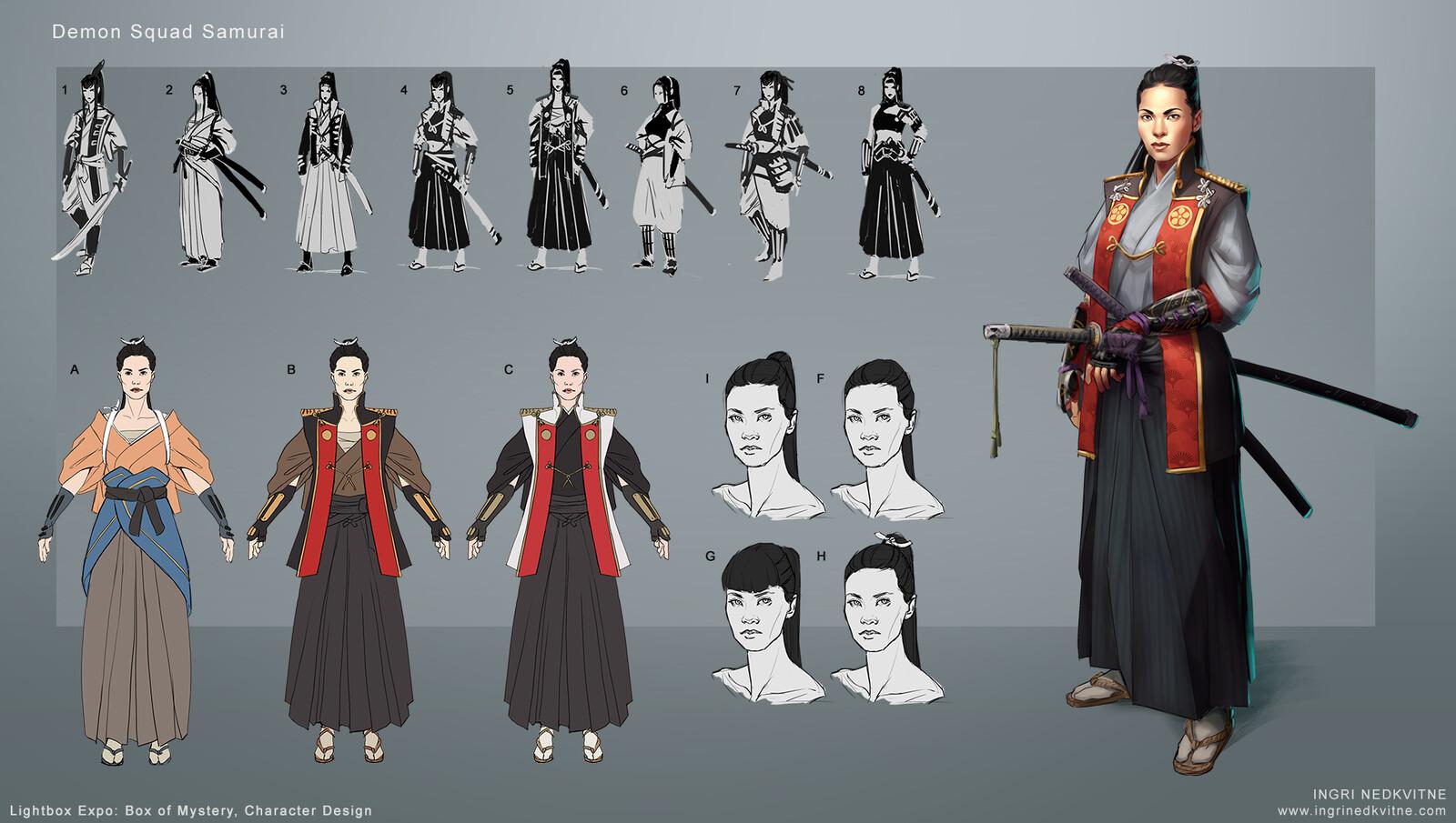 Iteration Process for Demon Squad Samurai