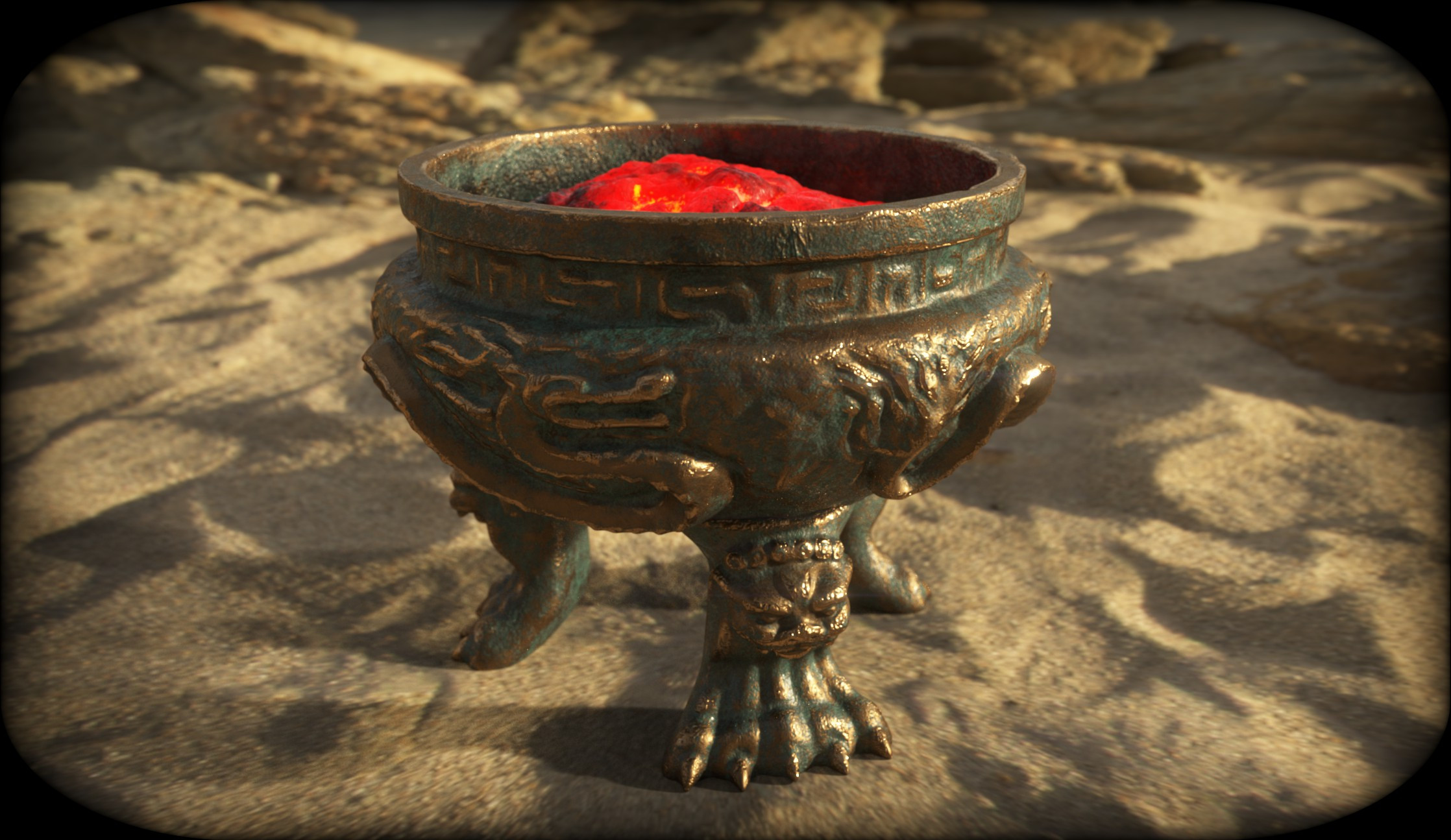 A test render with Iray in Substance Painter.