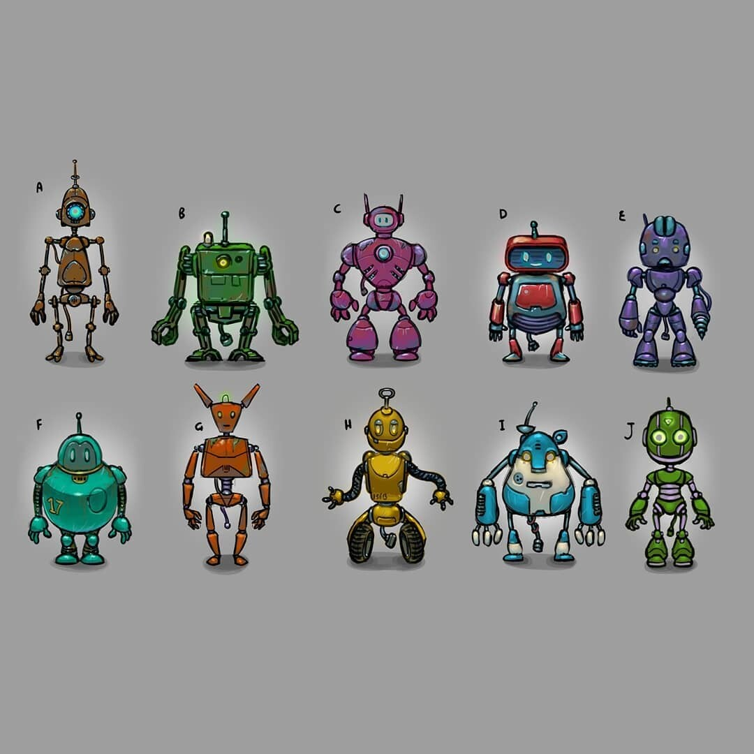 Some early robot concept designs