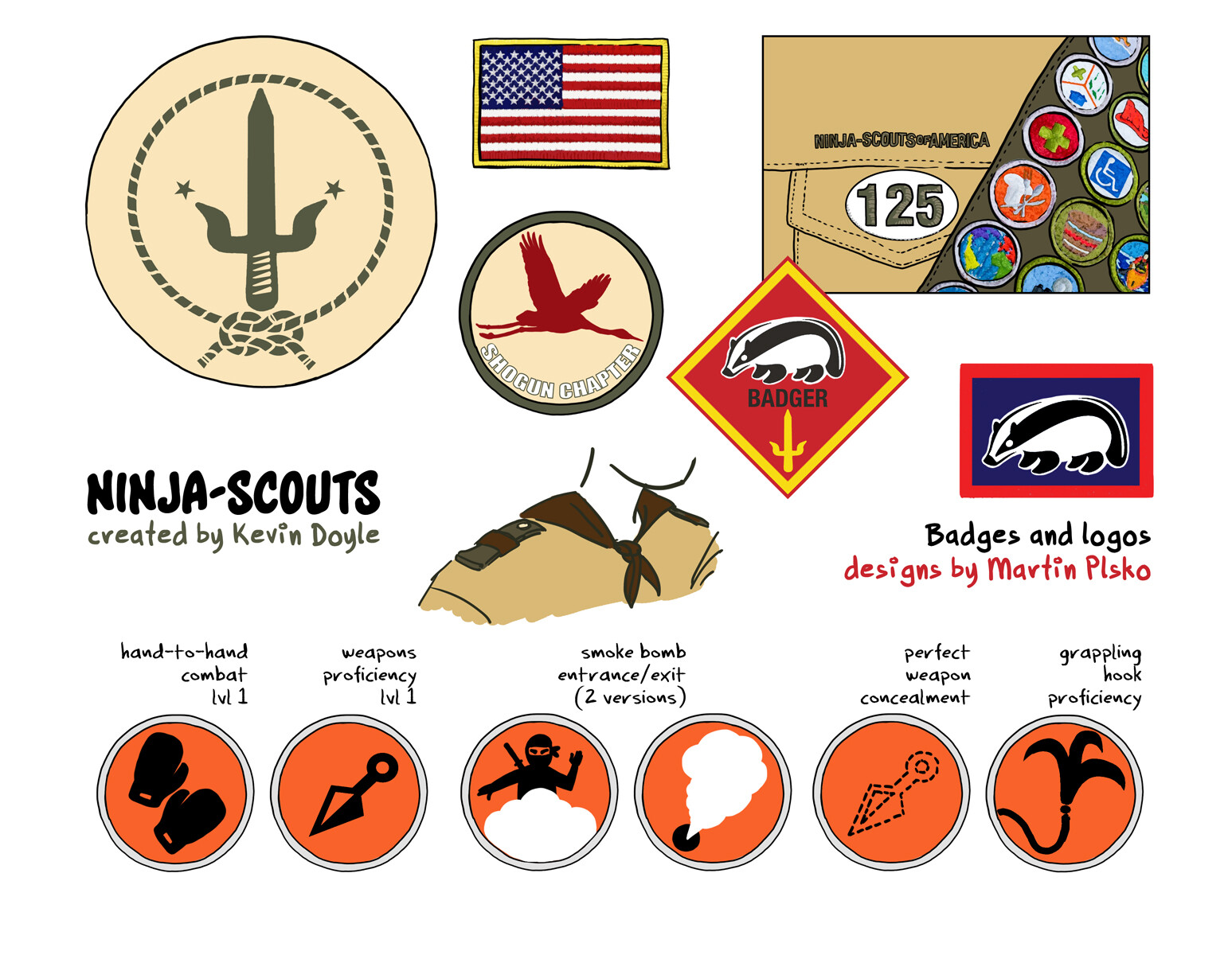 Badge designs.