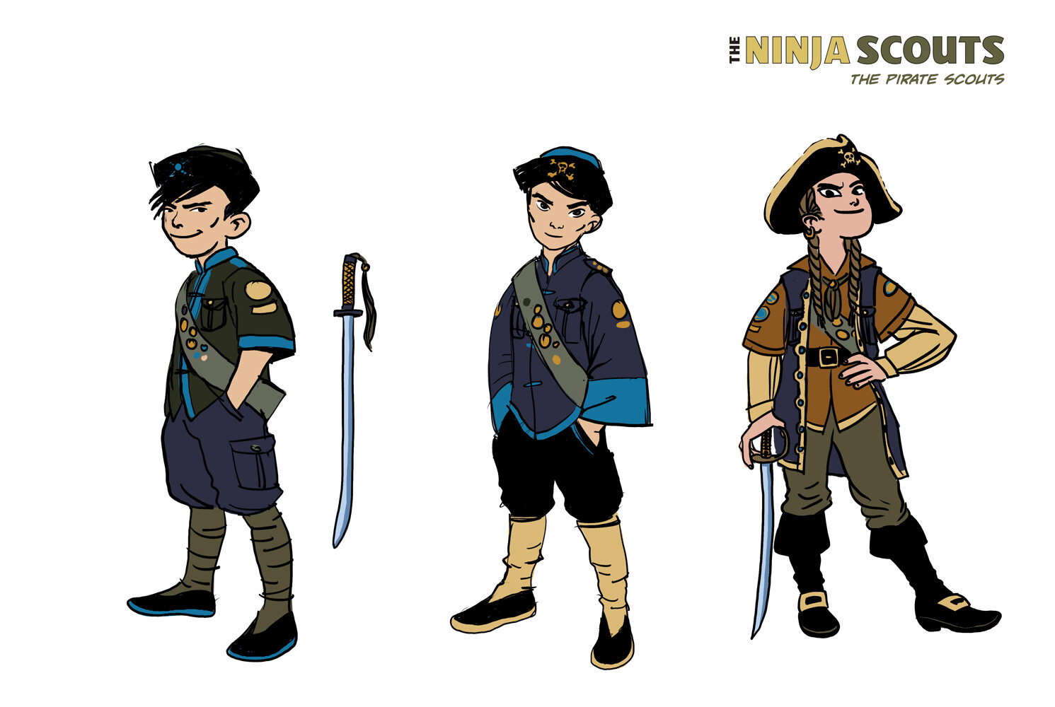 Designs for the Pirate Scouts.