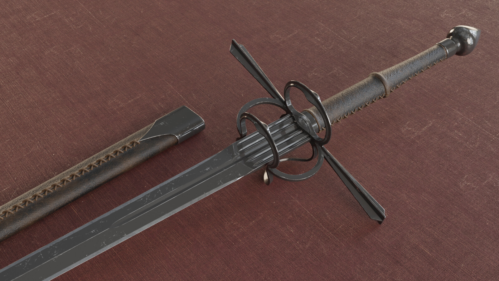 Two Handed Long Sword