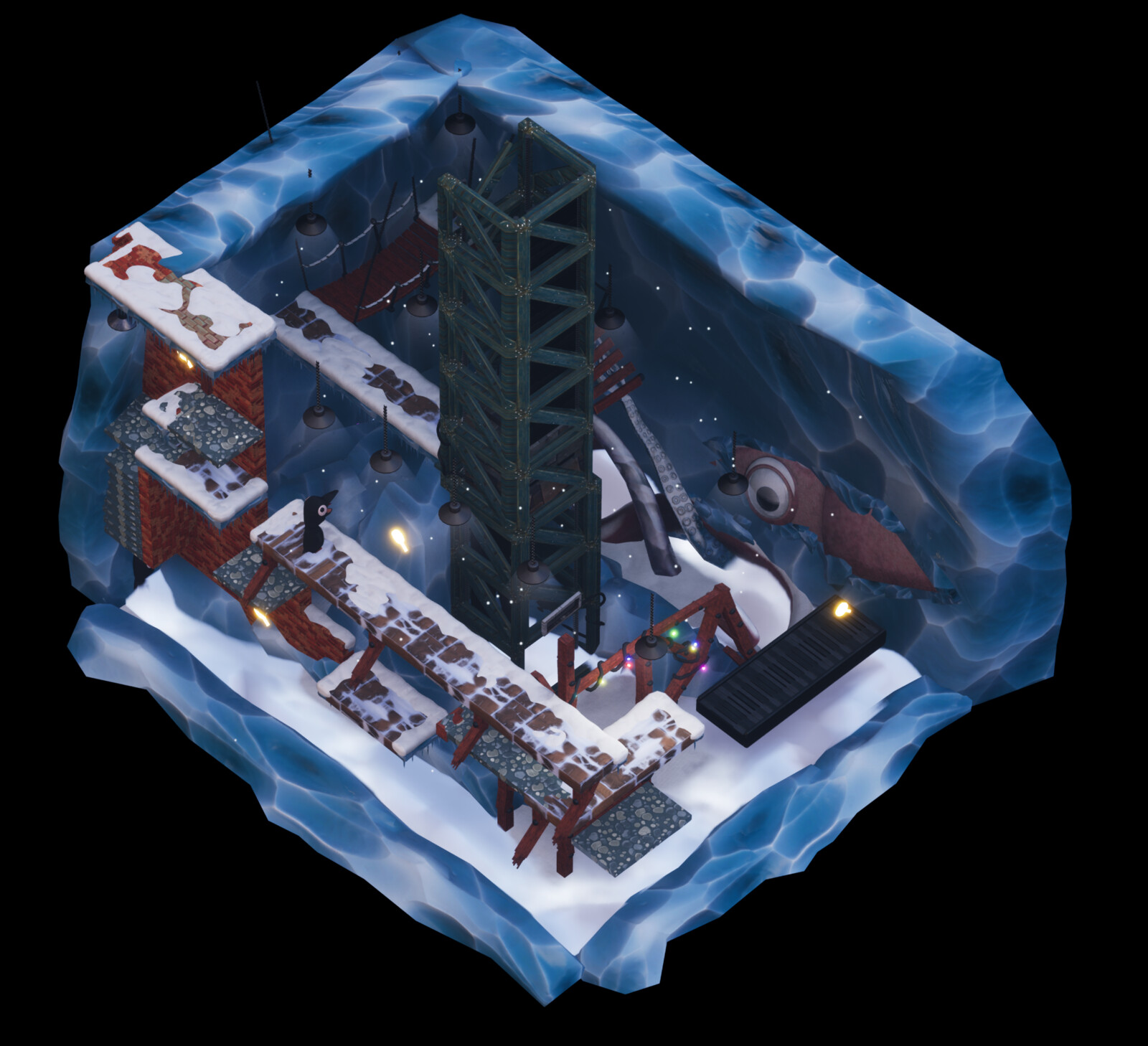"""""""The Cold Room"""" level"""