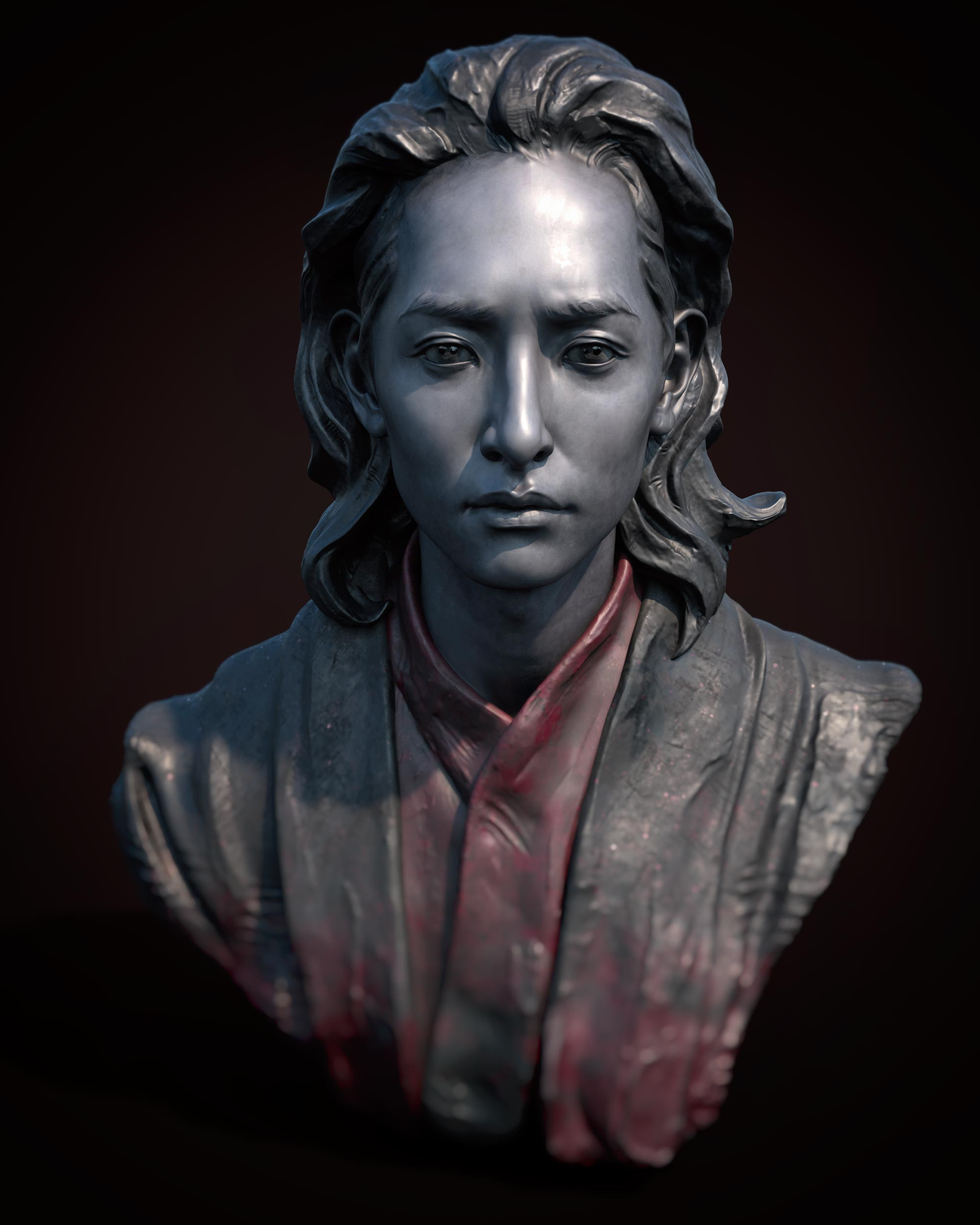 Gwi - this is a study based on Gwi the Vampire portrayed by 이수혁 in a Korean Drama 'The Scholar Who Walks the Night'. Color done in Substance Painter