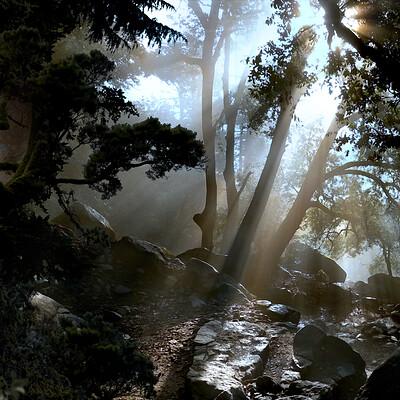 Jon yousef mattepaintingforest